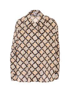 Loewe - Anagram diamond shirt in black and beige