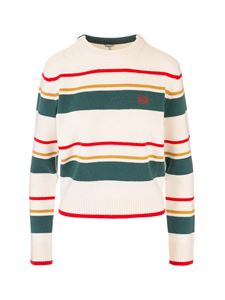 Loewe - Striped sweater in ecru and green