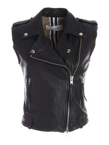 Bully - Contrasting lining waistcoat in black