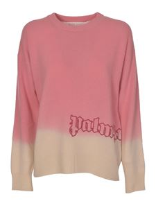 Palm Angels - Dipdye sweater in pink and white