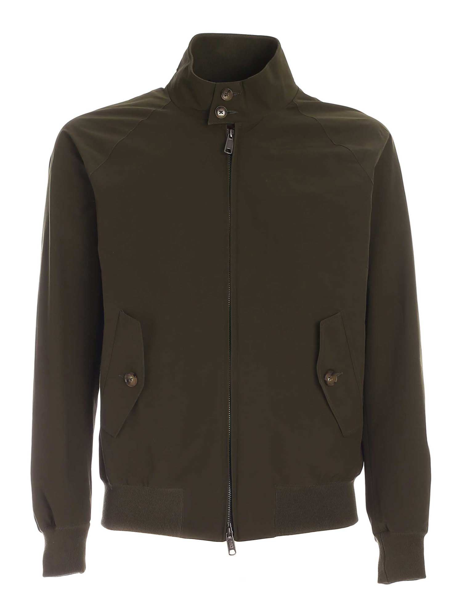 Baracuta POCKETS BOMBER JACKET IN GREEN