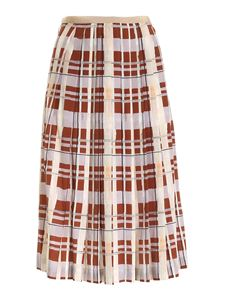 Ballantyne - Check print skirt in brown and lilac
