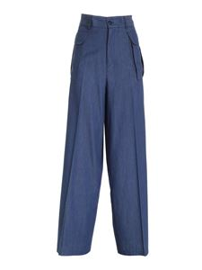 Ballantyne - Light denim palazzo pants in blue