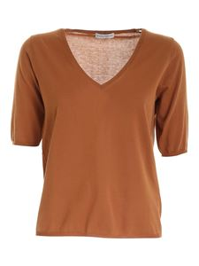 Ballantyne - Knit T-shirt in leather color