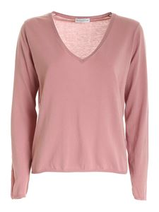Ballantyne - Worn effect sweater in pink