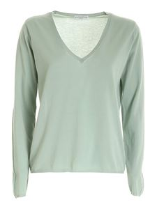 Ballantyne - Worn effect sweater in green
