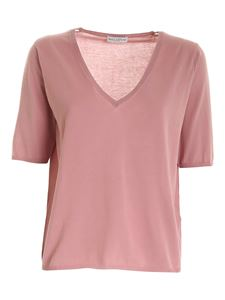 Ballantyne - Knit T-shirt in pink