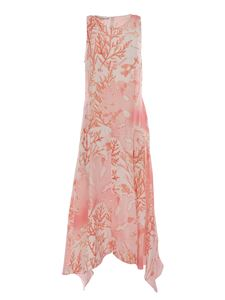 Stella McCartney - Coral print dress in pink