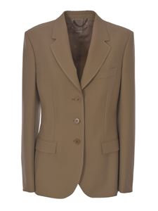 Stella McCartney - Contrasting stitching blazer in beige