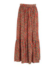 L'Autre Chose - Tomato print long skirt in red