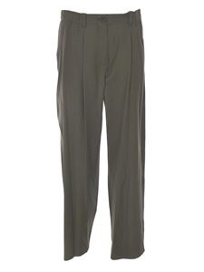 Kenzo - Loose fit tailored pants in green