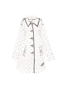Burberry - Transparent printed trench coat