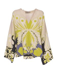 Valentino - Tropical World Tapestry print blouse