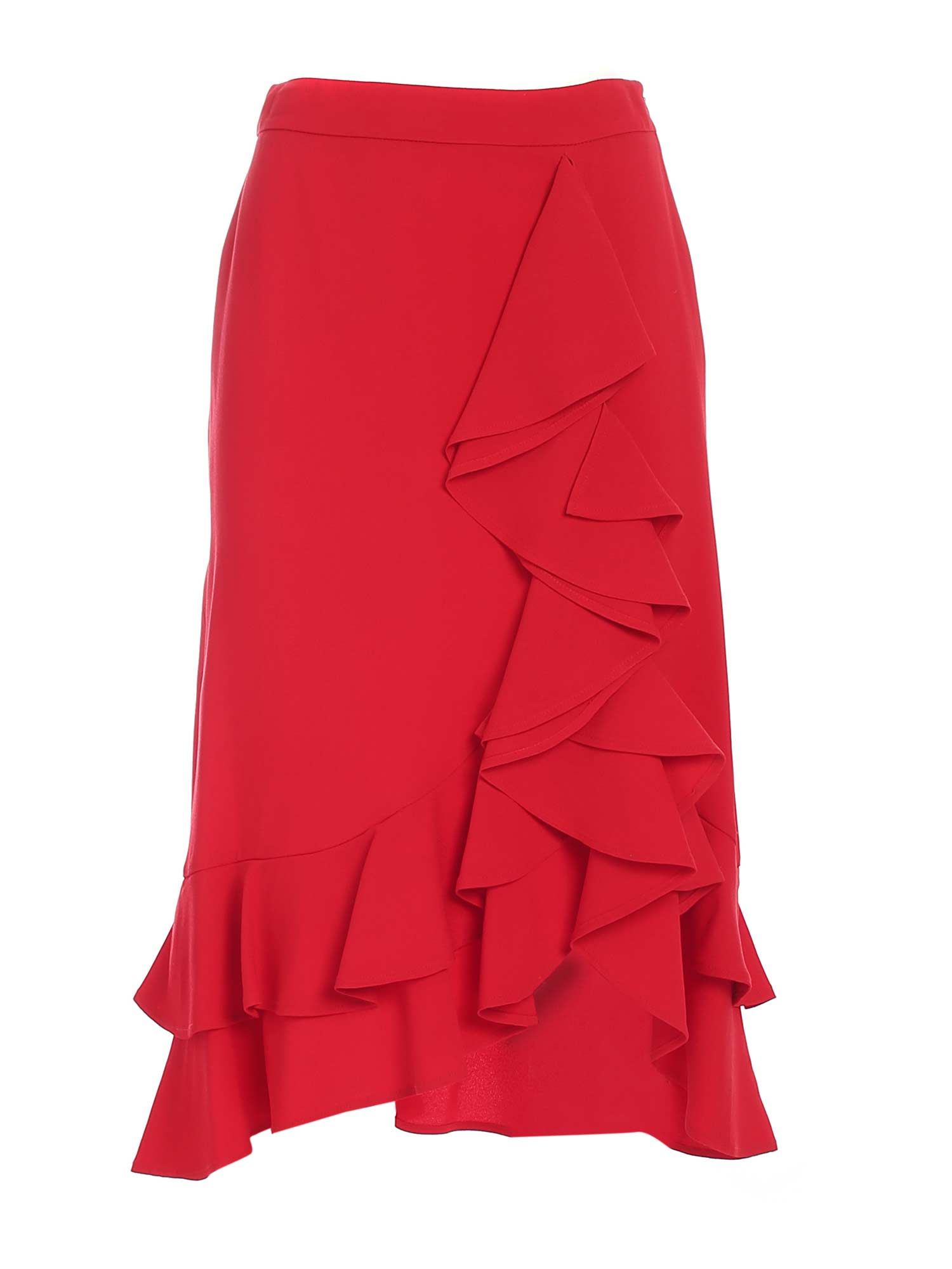 L'autre Chose Skirts RUFFLES SKIRT IN RED
