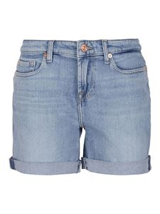 7 For All Mankind - Boy shorts in light blue