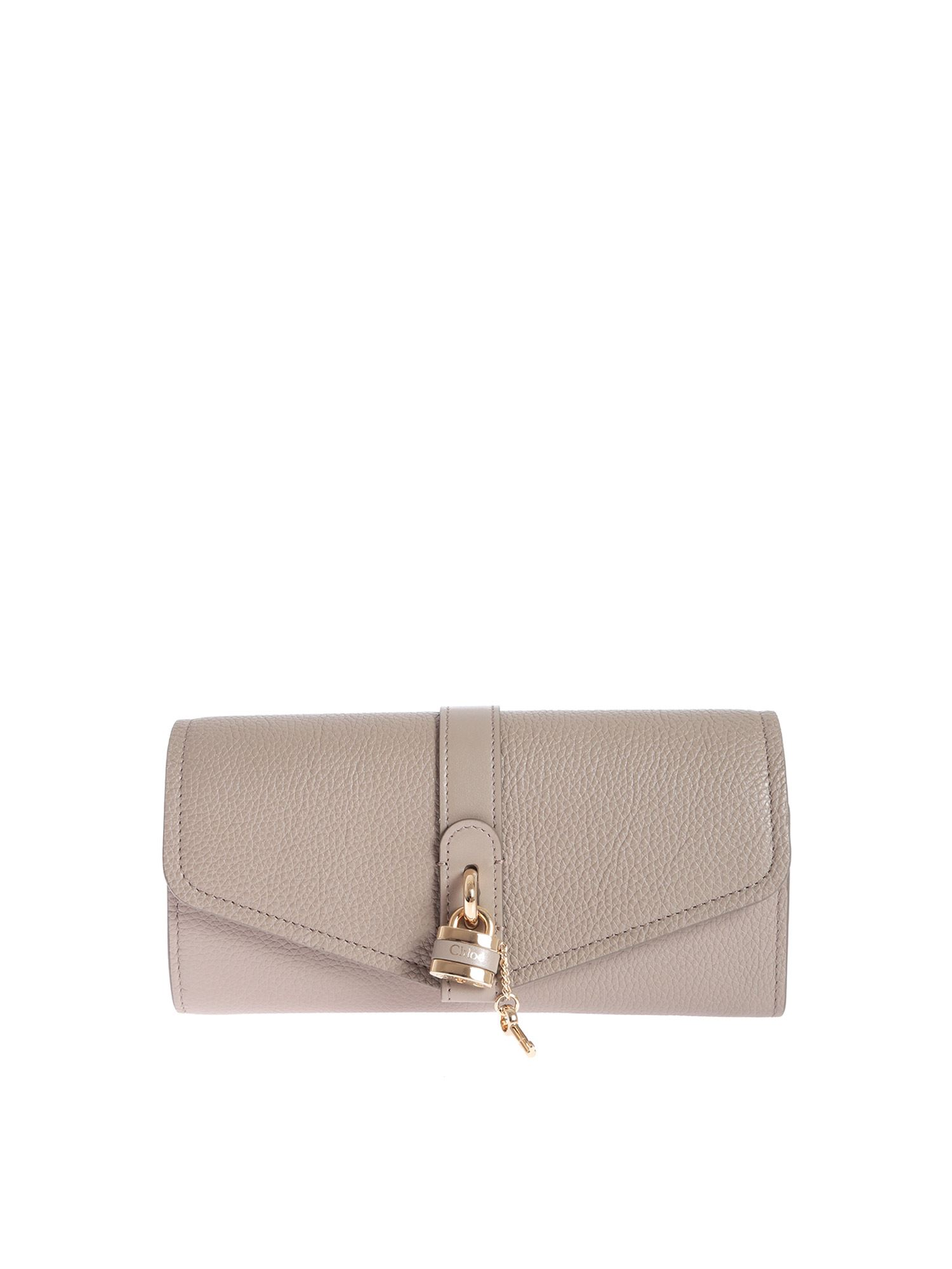 Chloé Wallets ABY CONTINENTAL WALLET IN GREY