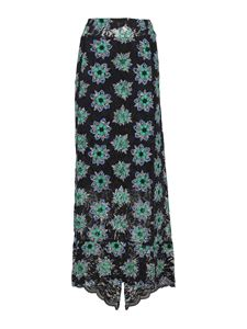 Paco Rabanne - Floral print lace skirt