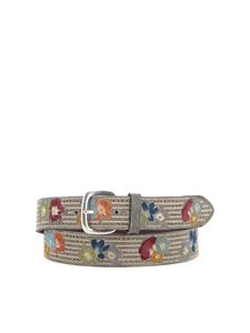 Orciani - Leather and textile fabric belt