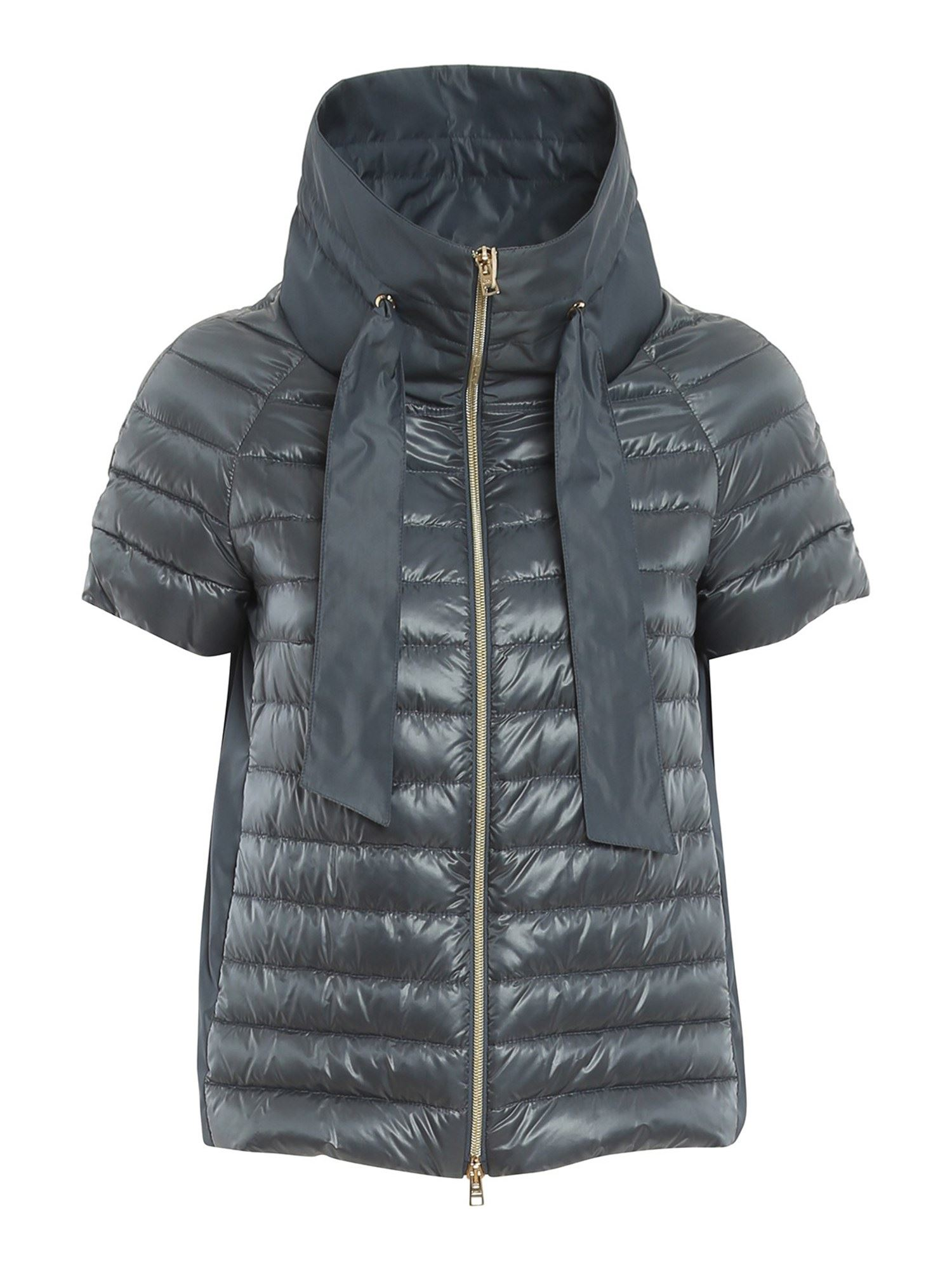 Herno BLACK CAPE STYLE DOWN JACKET IN BLUE