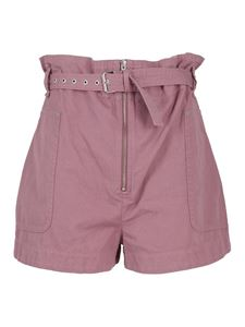 Isabel Marant Étoile - Parana shorts in Rosewood color
