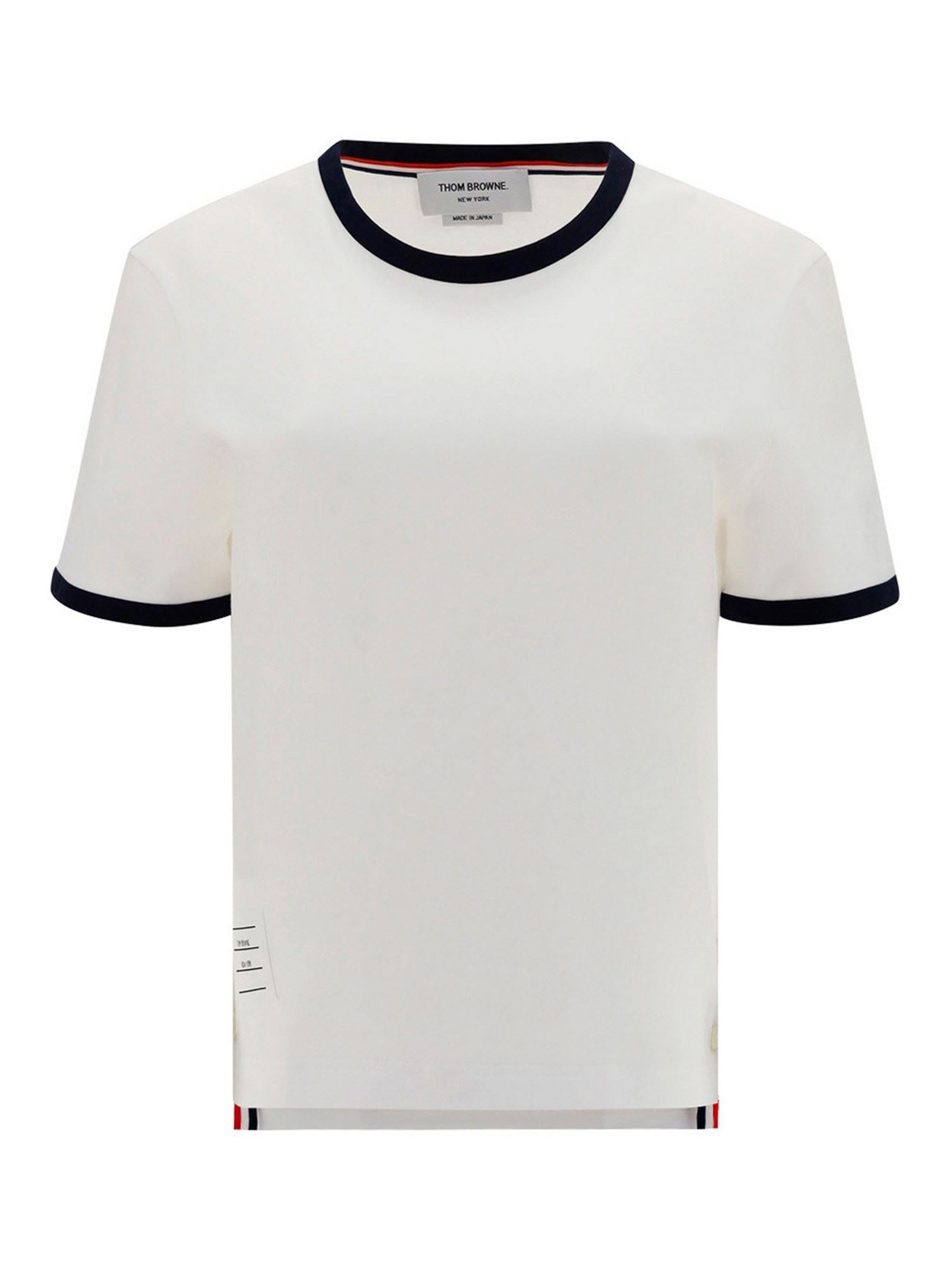Thom Browne COTTON T-SHIRT IN WHITE