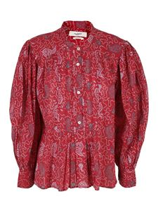 Isabel Marant Étoile - Adigra cotton blouse in red