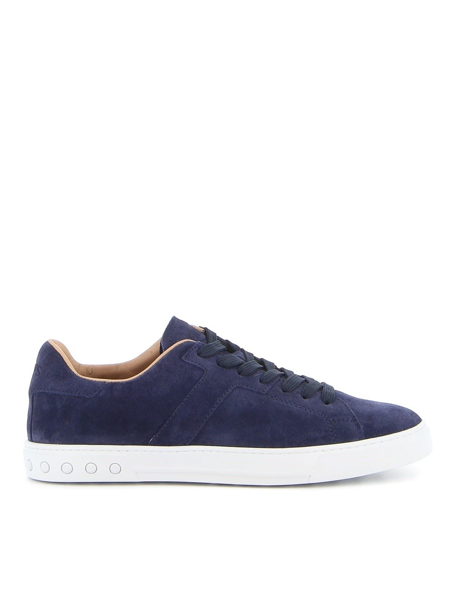 Tod's SUEDE LACE-UP SNEAKERS IN BLUE