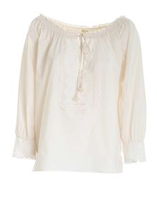 True Royal - Lace shirt in cream color