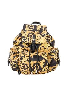 Versace Jeans Couture - Baroque print backpack in black