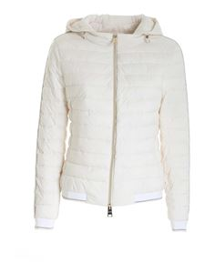 Herno - Lamé detail puffer jacket in white