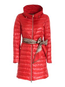 Herno - Branded foulard padded jacket in red
