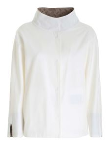 Herno - Logo plate jacket in white