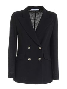 Harris Wharf London - Double-breasted jacket in black