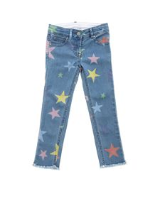 Stella McCartney Kids - Star print jeans in blue