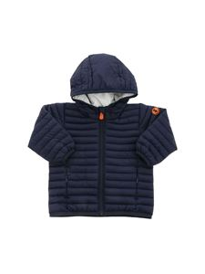 Save the duck - Quilted hooded puffer jacket in blue