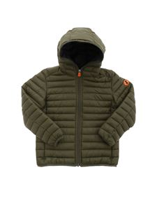 Save the duck - Quilted hooded puffer jacket in green