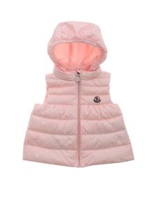 Moncler Jr - New Suzette padded waistcoat in pink