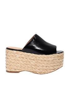 Paloma Barceló - Boia wedges in black