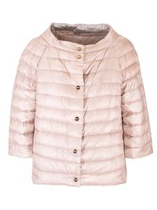 Herno - Quilted down jacket in pink