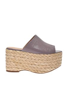 Paloma Barceló - Boia wedges in glycine color