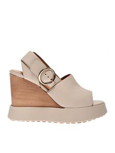 Paloma Barceló - Camacua wedges in cream color