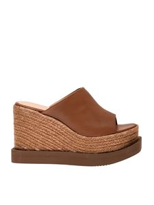 Paloma Barceló - Carcar wedges in tan color