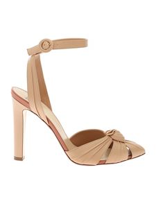 Francesco Russo - Chunky heel ankle strap in nude color