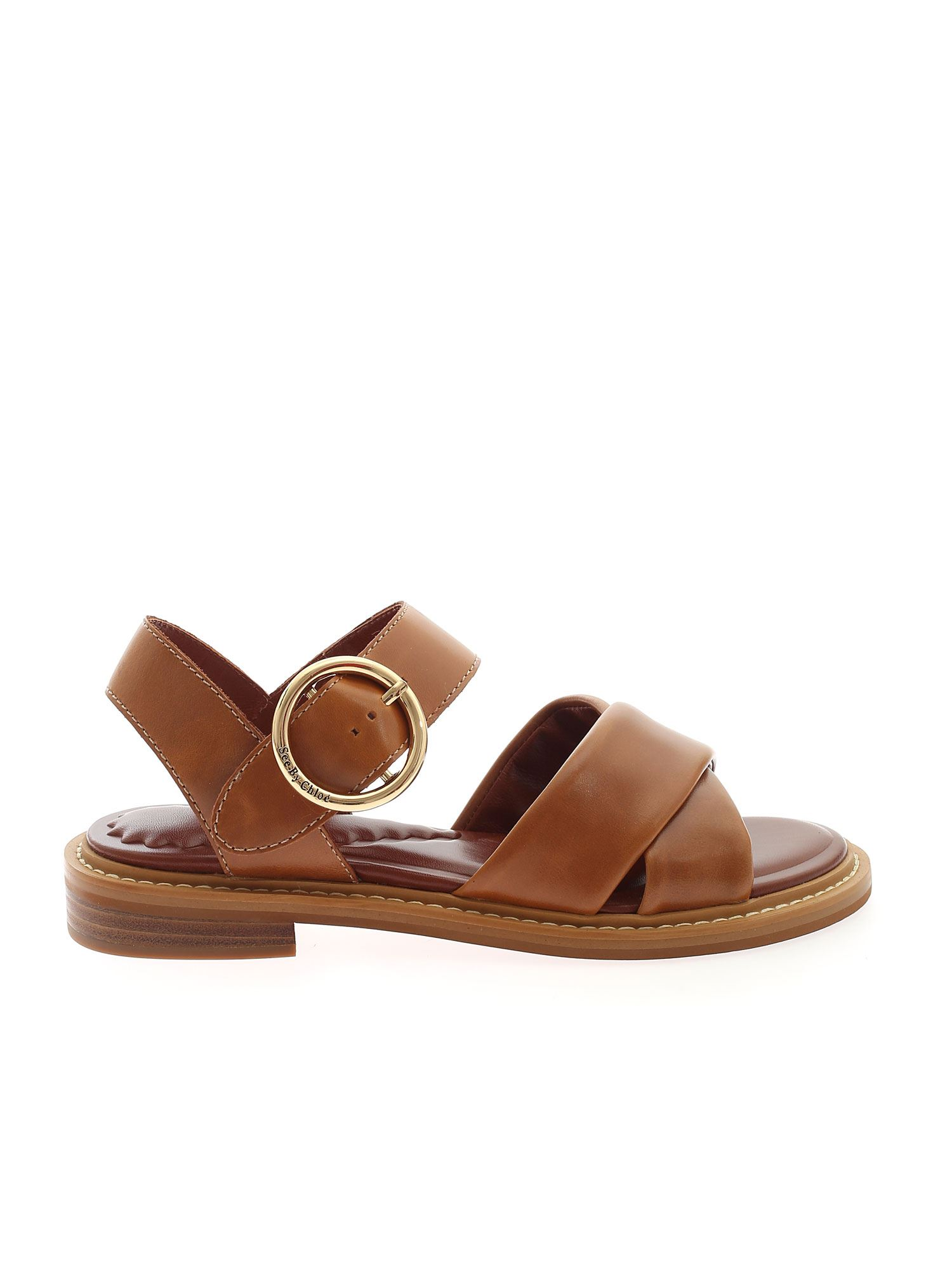 See By Chloé Leathers NOTO SANDALS IN LEATHER COLOR