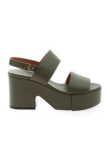 Clergerie - Cora sandals in Army green