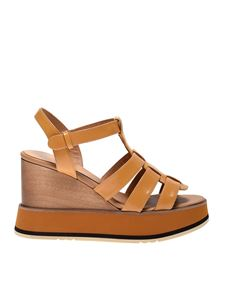 Paloma Barceló - Jutai wedges in mustard color