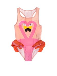 Stella McCartney Kids - Flamingo swimsuit in pink