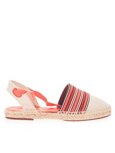 Loro Piana - Espadrilles in beige and shades of red