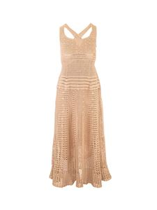 Loro Piana - Drilled dress in beige