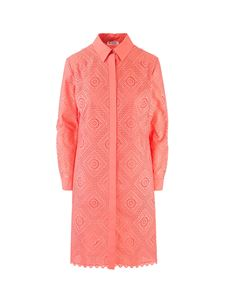 Loro Piana - Embroidered dress in Peach Blossom color